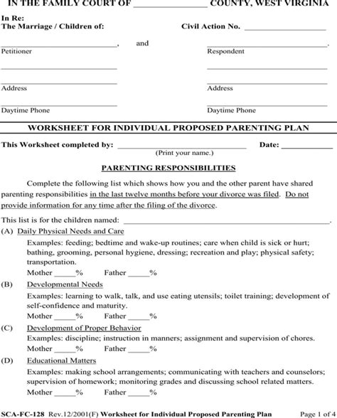 Free Parenting Worksheets by All Worksheets 187 Free Parenting Worksheets Printable