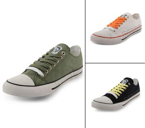 new diesel low lace up canvas shoes fashion plimsolls