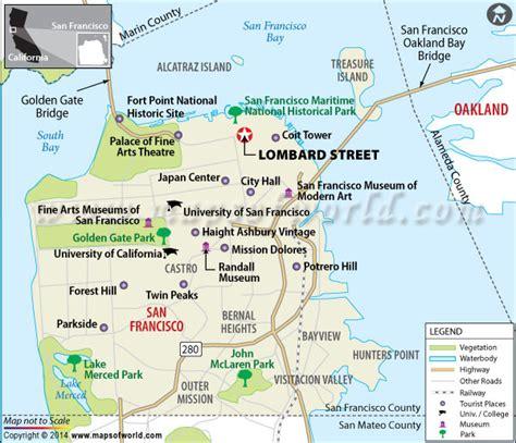 san francisco map lombard lombard san francisco