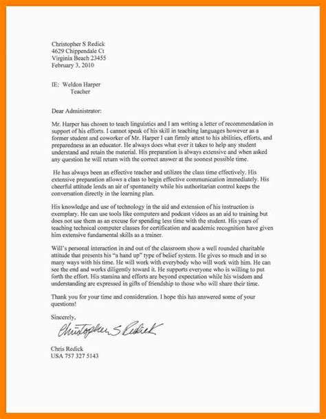 Recommendation Letter Sle For A Student From Teachers recommendation letter 13 letters of