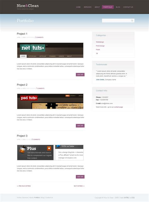 nice layout for blog nice clean portfolio blog layout by ya themeforest