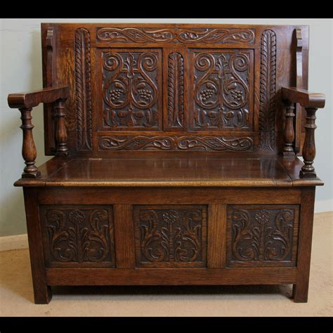 oak monks bench antique victorian georgian edwardian furniture the