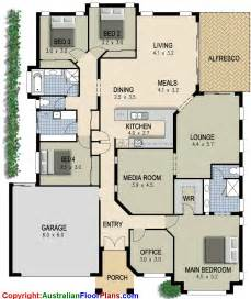 4 Bedroom Floor Plans For A House by Australian House Plan 4 Bedroom Study Lounge Amp Media Room
