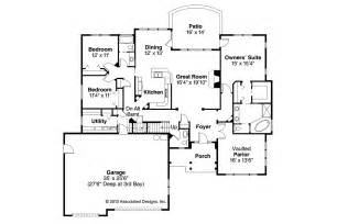 Craftsman Homes Floor Plans by Craftsman House Plans Cauldwell 30 509 Associated Designs