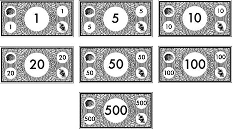 free coloring pages of monopoly money