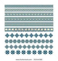 pattern cute korea 6pcs korean traditional pattern design symbol motif rubber