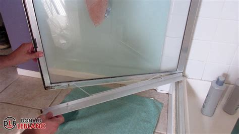 shower door at bottom fixing a leaky shower door