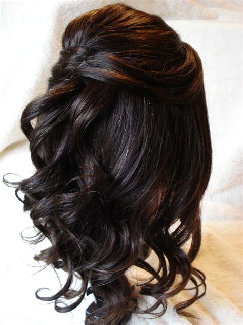 half up half down hairstyles dark hair 30 half up half down wedding hair style hairstyles