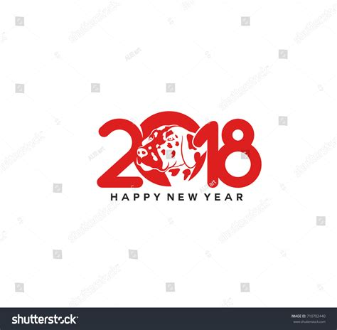 happy new year icons happy new year icon 2018 dogs stock vector 710702440