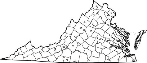 county map of virginia file map of virginia counties and cities svg