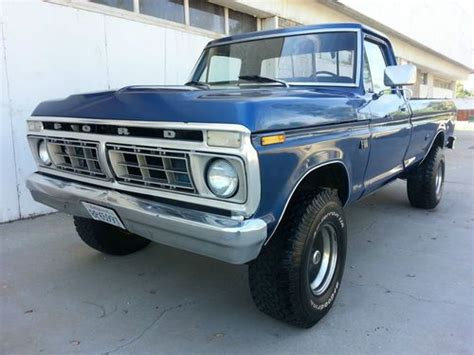 Buy Used 1975 Used Manual 4 Speed V8 L82 T Tops Leather Ps Pb Pw Ac Loaded In Stuart Purchase Used 1975 F 100 4x4 Custom 360 V8 4 Speed California Rust Free Truck 1976 1977 1978 In