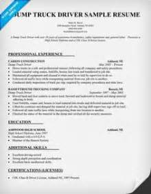 Resume Sles For Truck Drivers by Heavy Truck Driver Resume Resumecompanion Resume