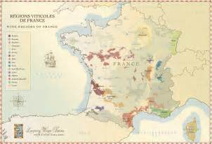 Wine Regions Of France Map by French Wine Regions Maps 187 Hand Crafted Illustration