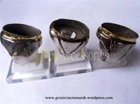 Cincin Garnet Ring Monel Tanam grosir ring emban cincin monel baja putih tanam garis