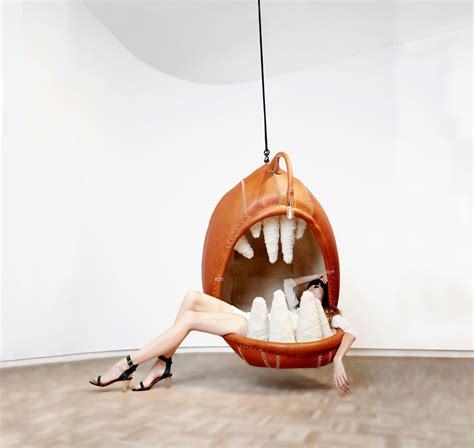 Online Bathroom Design Hanging Animal Chairs Let You Sit In The Mouths Of Predators