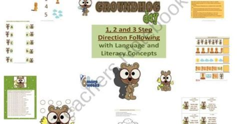 groundhog day parents guide groundhog day 1 to 3 step direction following with