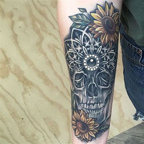 tattoo mandala realistic sunflower tattoo meaning and best design ideas