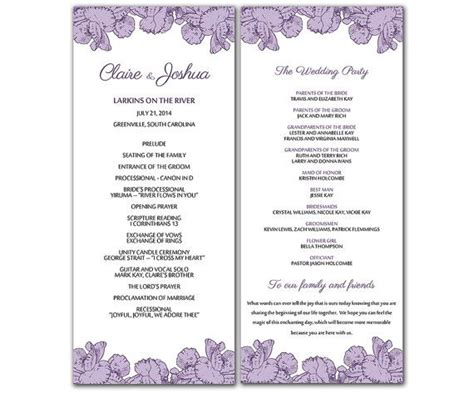 downloadable wedding program template that can printed microsoft