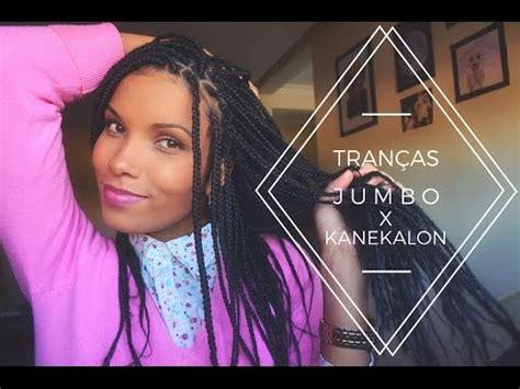 how to do box braids with kanekalon hair box braids jumbo x kanekalon youtube