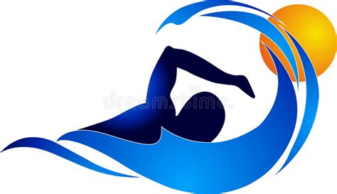 clipart nuoto swimming logo stock vector illustration of logo olympic