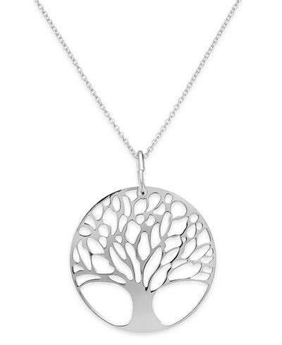 "Giani Bernini 18"" 24k Gold over Sterling Silver or Sterling Silver Tree of Life Pendant Necklace"