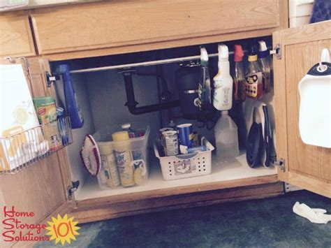 kitchen sink storage ideas kitchen sink cabinet organization ideas you can use