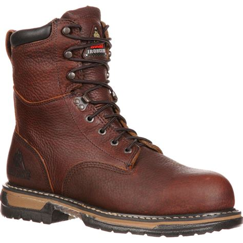 comfortable work boots mens rocky ironclad comfortable waterproof work boot fq0005693