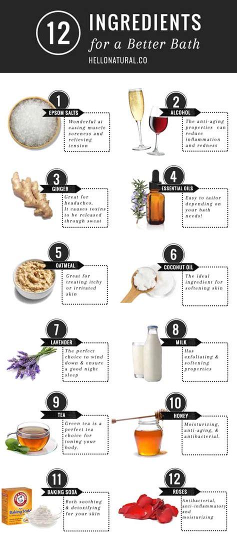 Detox Ingredients For Skin by 12 Bath Ingredients For Soft Skin Detox More Helloglow