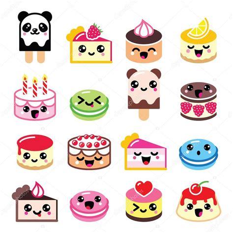 imagenes monitos kawaii cute kawaii postre torta galletas de almendra los