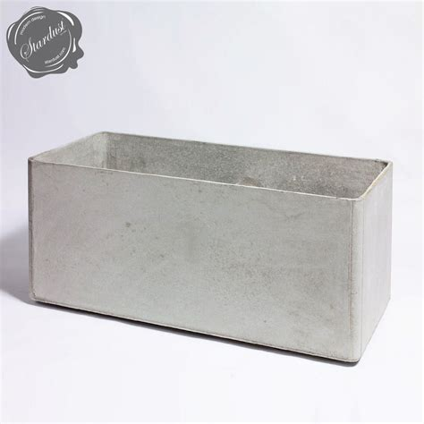 "Modern Outdoor Planters: Rectangular Low Planter Pot 18"" h"