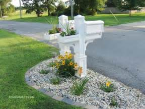 Landscape Mailbox Pictures Idea Here Ideas For Landscaping Around Mailbox
