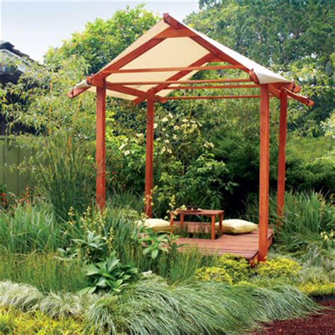backyard tea house outdoor bed nap spots sunset