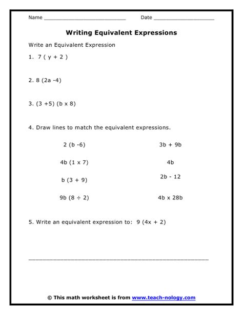 Math Expressions Worksheets Grade 6 by Simplifying Variable Expressions Worksheet Abitlikethis