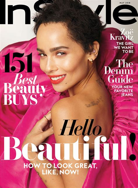 I This On In Style Magazines Site What Is In Your Bag by Zo 235 Kravitz Covers Instyle S May Issue Tom Lorenzo