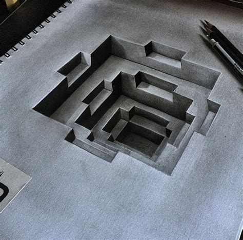 3d drawing 3d pencild drawing by dribblack