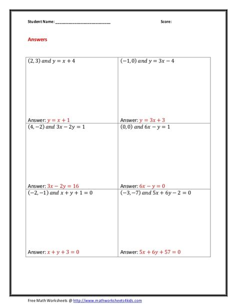 Parallel Lines Worksheet Answers by Parallel Lines Equations