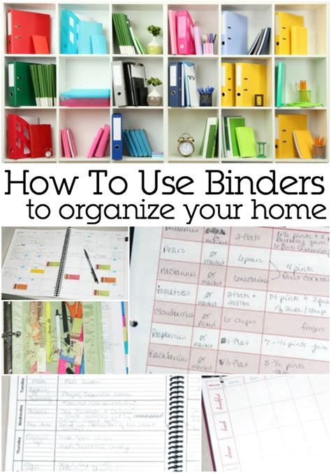 organize or organise using a binder to organize your home