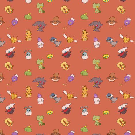 cute pattern material cute pokemon fabric by nerdbaitplus3 on spoonflower