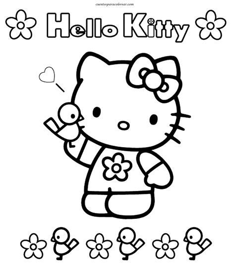 imagenes para pintar online dibujos para colorear hello kitty