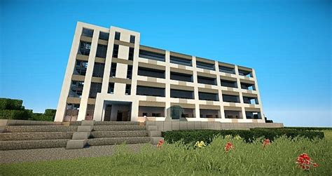 modern apartments building minecraft project