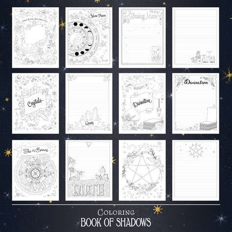 book of shadows magic coloring book an enchanted witch s coloring activity book with intricate mandala designs crystals spells mythical coloring pages to relieve stress and relax books printable book of shadows pages coloring book of shadows