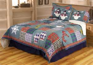 snowman quilt set in twin full queen or king