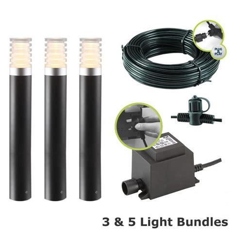 garden post lights led techmar arco 40 led garden post light kit