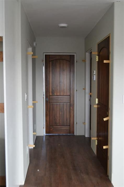 White Interior Doors With Stained Wood Trim Staining Interior Doors White Furniture To Build Pinterest Pine Doors Interior Door