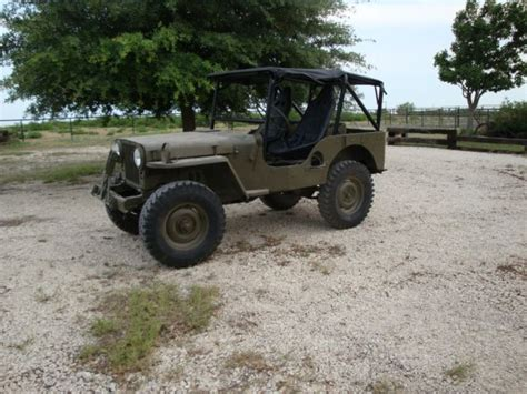 1951 willys jeep value 1951 military willys jeep m38 for sale in brackettville