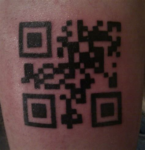 qr code tattoo a step away from the norm species5618 net