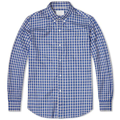 Gingham Shirt edifice button gingham shirt blue black check