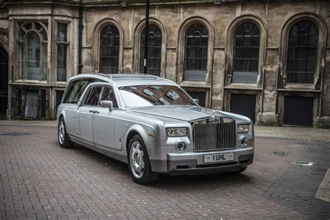 roll royce rouce rolls royce new phantom hearse nished in silver rolls