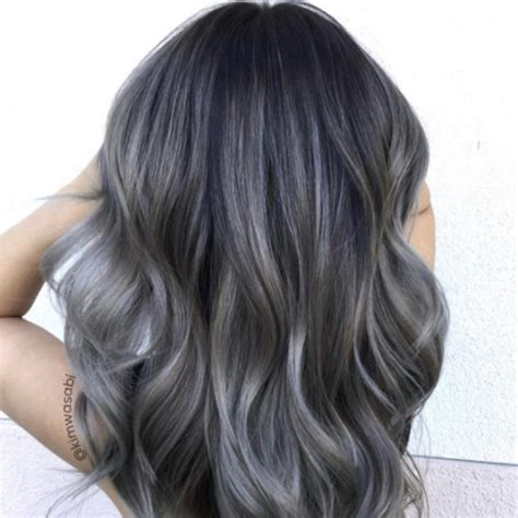 colored hair charcoal hair color popsugar