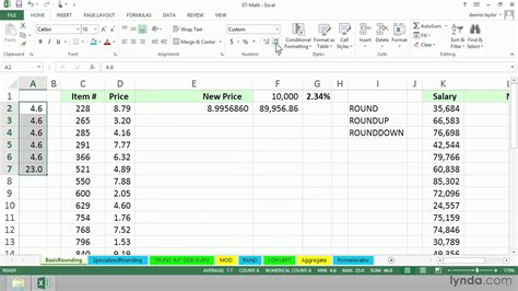 format excel round up excel formula tutorial working with round roundup and